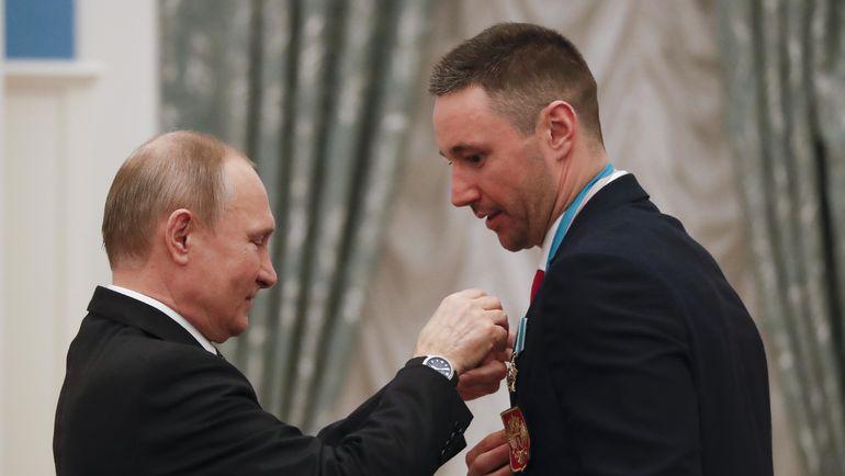 Среда. Кремль. Владимир ПУТИН наградил российских олимпийцев. Фото AFP