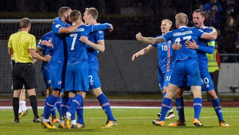 Сборная Исландии по футболу. Фото AFP