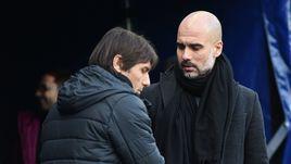 "Сегодня. Манчестер. ""Манчестер Сити"" - ""Челси"" - 1:0. Антонио КОНТЕ и Пеп ГВАРДЬОЛА."