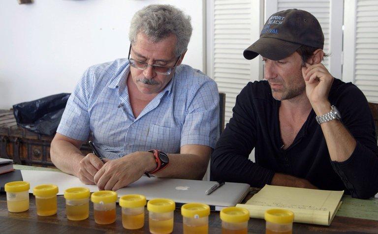 Брайан ФОГЕЛЬ (справа) и Григорий РОДЧЕНКОВ. Фото The New York Times