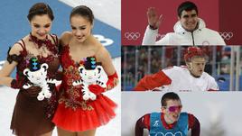 Евгения МЕДВЕДЕВА и Алина ЗАГИТОВА, Никита ТРЕГУБОВ, Кирилл КАПРИЗОВ и Денис СПИЦОВ.
