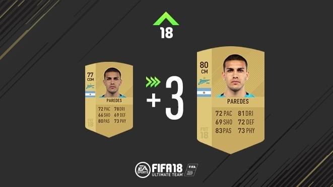 Обновление карточки Леандро Паредеса. Фото EA Sports