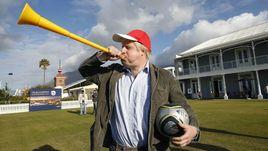 Бывший мэр Лондона Борис ДЖОНСОН на чемпионате мира-2010 в ЮАР.