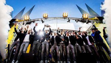 """Игроки """"Витесса"""" празднуют победу в Кубке Голландии-2017. Фото AFP"""