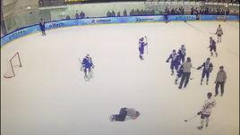 Коваленко бьет арбитра. Видео