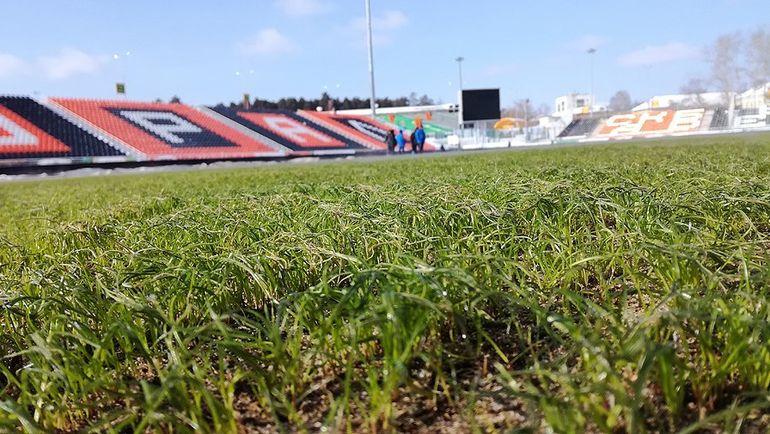 Так выглядит газон стадиона в Екатеринбурге. Фото twitter.com/FCURAL