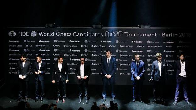 Участники турнира претендентов-2018. Фото twitter.com/theworldchess