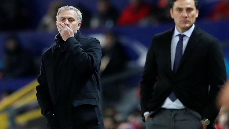 """Вторник. Манчестер. """"Манчестер Юнайтед"""" – """"Севилья"""" – 1:2. Жозе МОУРИНЬЮ."""