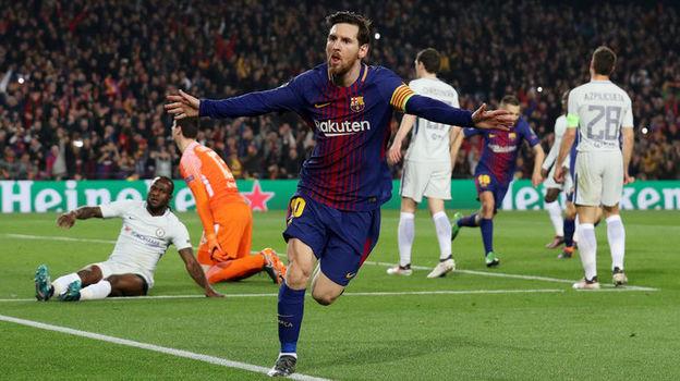 63-я минута. Лионель МЕССИ забил 100-й гол в Лиге чемпионов. Фото Reuters