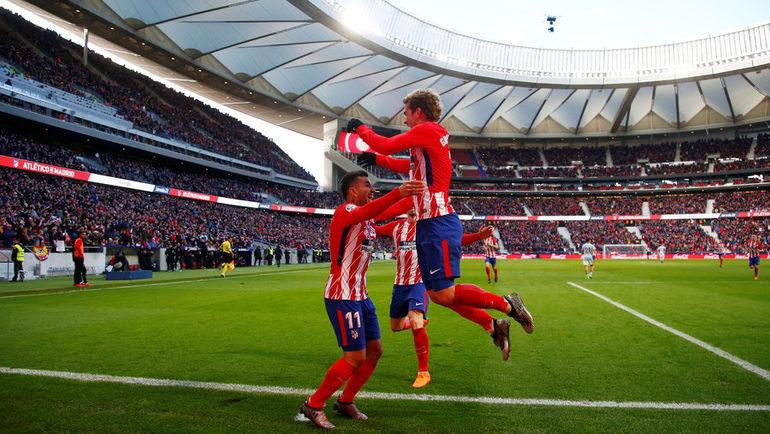 """""""Атлетико"""" празднует гол. Фото REUTERS"""