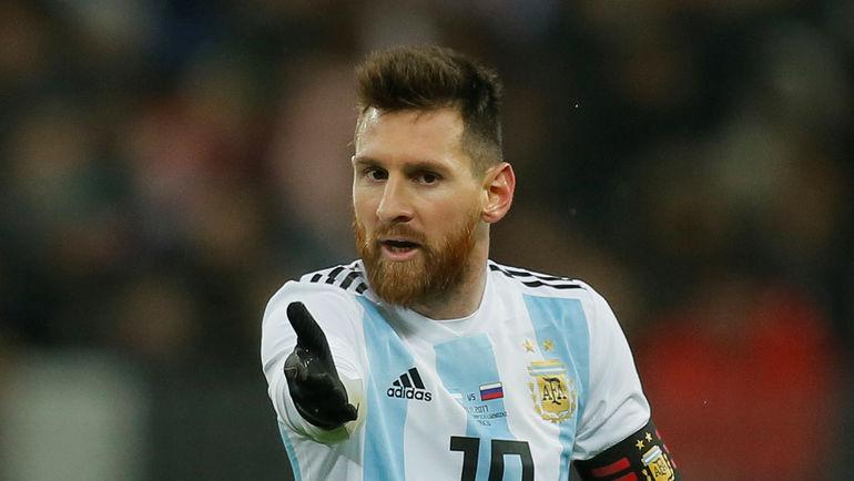 Лионель МЕССИ в сборной Аргентины. Фото REUTERS