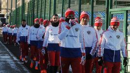 Сборная России готовится к матчу с Бразилией.