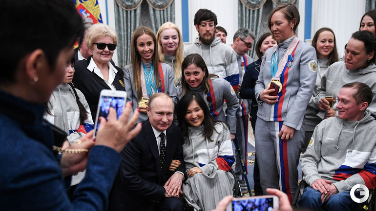 Сегодня. Москва. Встреча паралимпийцев с Владимиром ПУТИНЫМ.