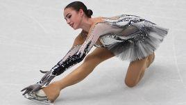 Среда. Милан. Алина ЗАГИТОВА - вторая после короткой программы.
