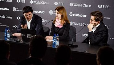 Три ничьих и ошибка. Крамник снова победил Ароняна