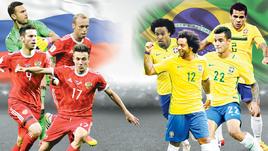 Россия - Бразилия. День матча. Live!