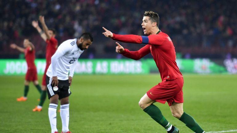 Пятница. Цюрих. Португалия - Египет - 2:1. КРИШТИАНУ РОНАЛДУ - автор дубля. Фото AFP