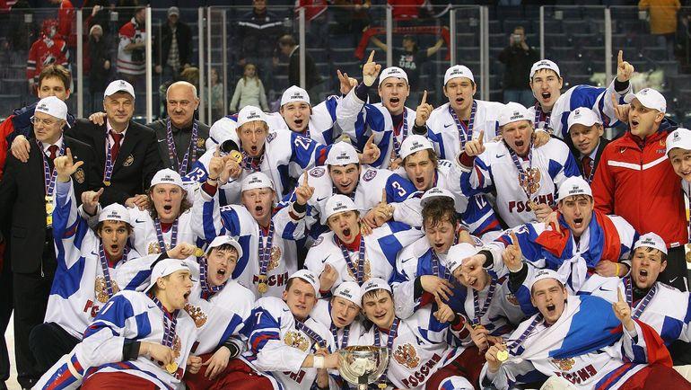 2011 год. Баффало. Россия - Канада - 5:3. Россияне празднуют победу. Фото AFP