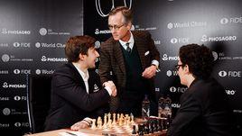 Почетный президент немецкой шахматной Федерации и Сергей Карякин.