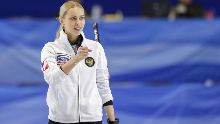 Вчера. Норт-Бэй. Виктория МОИСЕЕВА в матче за 3-е место чемпионата мира против США. Фото worldcurling.org
