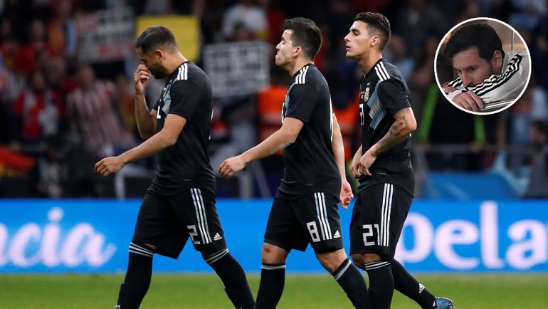 Вчера. Мадрид. Испания - Аргентина - 6:1. Лионель МЕССИ не смог досмотреть матч до конца.