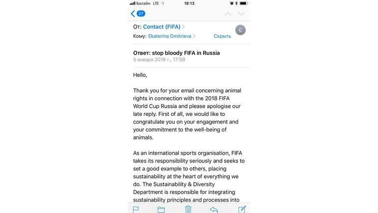 Ответ из ФИФА.