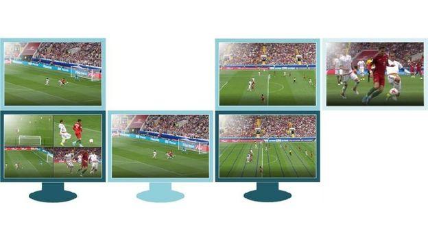 Четыре оператора будут обеспечивать ВАР показом моментов с наиболее удобных ракурсов. Первый ассистент ВАР следит за трансляцией, осуществляемой основной камерой. Второй ассистент ВАР следит за офсайдными ситуациями. Третий ассистент ВАР следит за игрой с помощью обычной телетрансляции. Фото FIFA