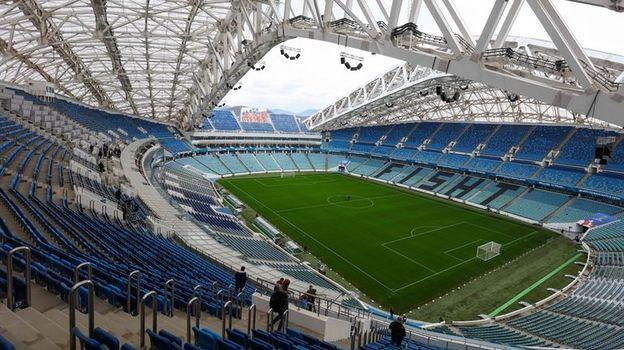 """Сочи. Стадион """"Фишт"""". Фото AFP"""