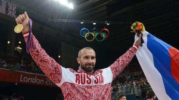 12 августа 2012 года. Лондон. Олимпийский чемпион Сергей ТЕТЮХИН. Фото AFP