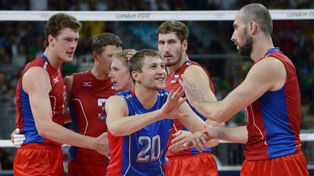 12 августа 2012 года. Лондон. Сборная России в олимпийском финале с Бразилией. Фото AFP