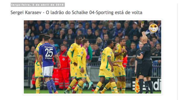 """Популярный блог болельщиков """"Спортинга"""" Mister do Cafe удивляется, как УЕФА допустил такое назначение."""