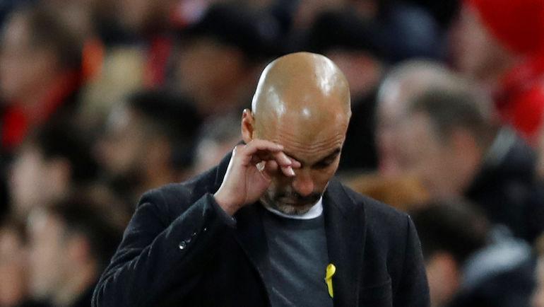 """Среда. Ливерпуль. """"Ливерпуль"""" - """"Манчестер Сити"""" - 3:0. Главный тренер """"Манчестер Сити"""" Хосеп ГВАРДЬОЛА: провал? Фото Reuters"""