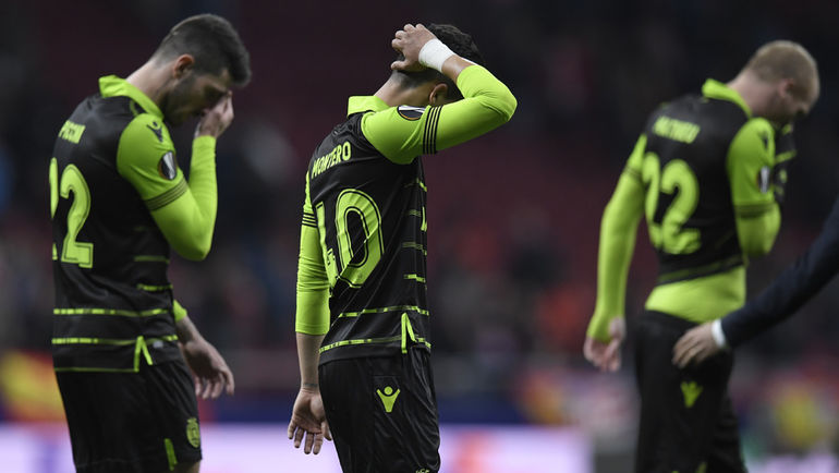 """Четверг. Мадрид. """"Атлетико"""" - Спортинг"""" - 2:0. Лиссабонцы пропустили два безответных гола. Фото AFP"""