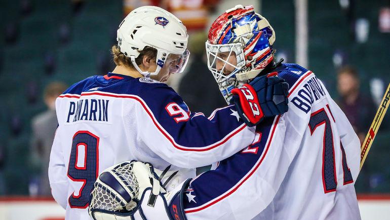 Артемий ПАНАРИН (слева) и Сергей БОБРОВСКИЙ. Фото USA TODAY Sports