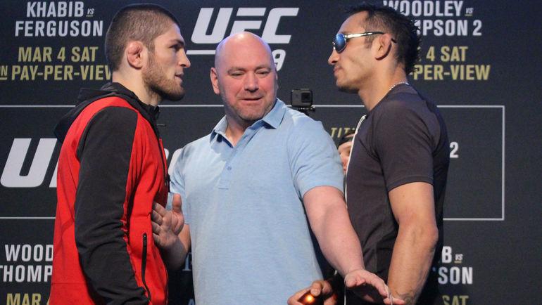 Хабиб НУРМАГОМЕДОВ vs Тони ФЕРГЮСОН: афиша UFC223. Бой сорвался за неделю до уик-энда в Нью-Йорке. Фото MMAjunkie