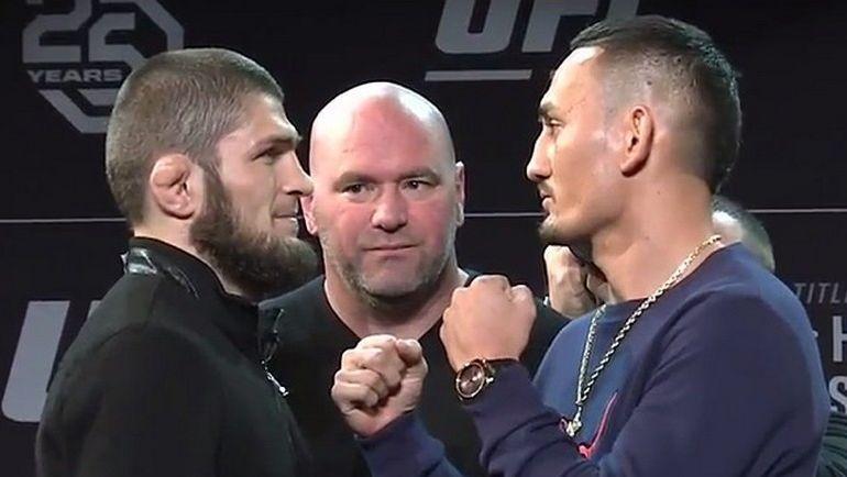 Хабиб НУРМАГОМЕДОВ vs Макс ХОЛЛОУЭЙ: афиша UFC223 №2. Бой сорвался за сутки до начала события в Нью-Йорке. Фото MMA Weekly