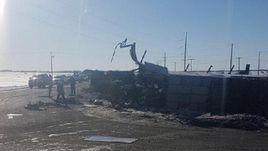 """Автобус с командой """"Гумбольдт Бронкос"""" попал в аварию."""