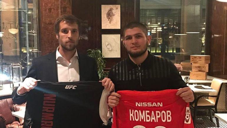 Дмитрий КОМБАРОВ и Хабиб НУРМАГОМЕДОВ.