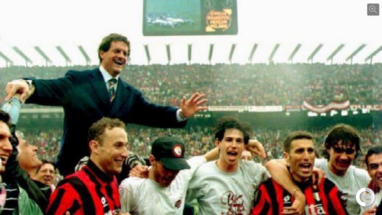 """1994 год. """"Милан"""". Фабио КАПЕЛЛО - главный тренер золотого """"Милана""""."""