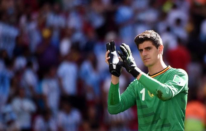Вратарь сборной Бельгии Тибо КУРТУА Фото AFP