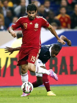 Нападающий сборной Испании Диегу КОСТА. Фото AFP