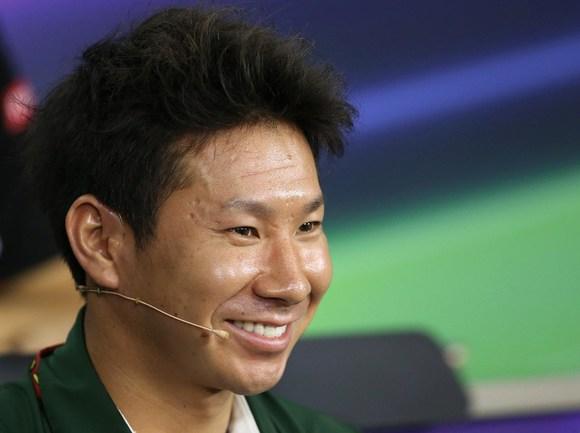 """Японский гонщик """"Катерхэм"""" Камуи КОБАЯСИ Фото AFP"""