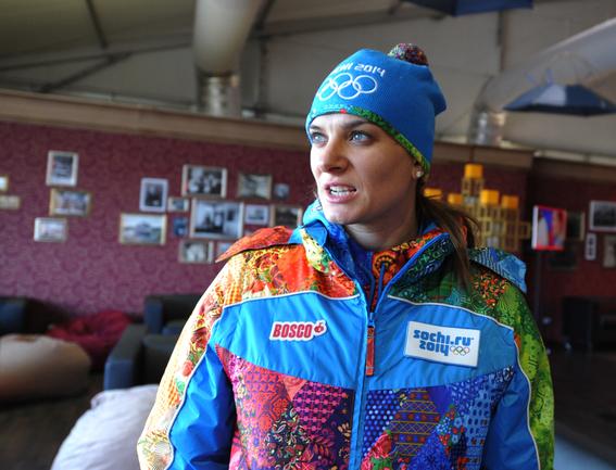 Двукратная олимпийская чемпионка по прыжкам с шестом Елена ИСИНБАЕВА Фото Александр ФЕДОРОВ, «СЭ»