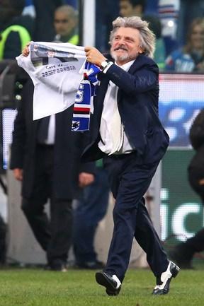 """Президент """"Сампдории"""" Массимо ФЕРРЕРО. Фото AFP"""