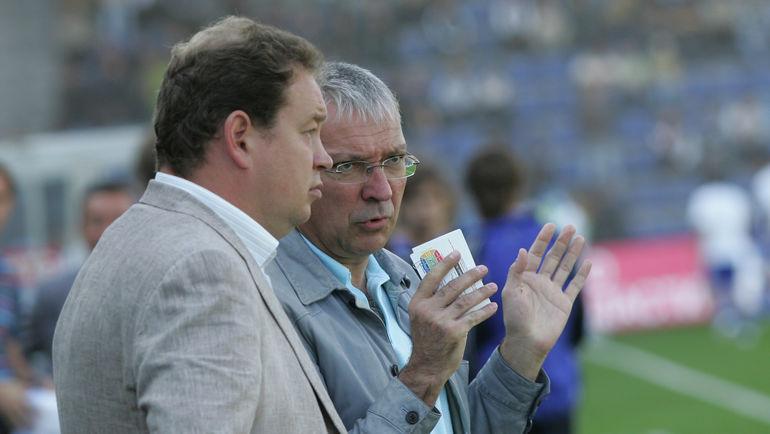 Юрий БЕЛОУС (справа) и Леонид СЛУЦКИЙ. Фото Александр ВИЛЬФ