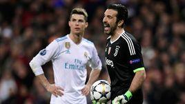 """Среда. Мадрид. """"Реал"""" - """"Ювентус"""" - 1:3. Джанлуиджи БУФФОН (справа) и КРИШТИАНУ РОНАЛДУ."""