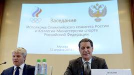 Вчера. Москва. Павел КОЛОБКОВ (слева) и Александр ЖУКОВ на заседании исполкома ОКР.