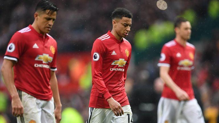 "Сегодня. Манчестер. ""Манчестер Юнайтед"" - ""Вест Бромвич"" - 0:1. Игроки хозяев после поражения. Фото AFP"