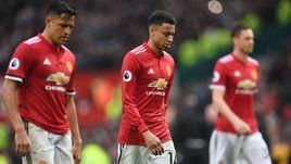 "Сегодня. Манчестер. ""Манчестер Юнайтед"" - ""Вест Бромвич"" - 0:1. Игроки хозяев после поражения."