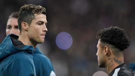 """Король Мадрида КРИШТИАНУ РОНАЛДУ (слева) и звезда Парижа НЕЙМАР: вместе в """"Реале"""" они, по всей видимости, играть не будут."""